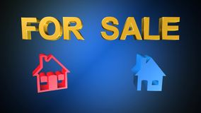 Home,for sale,animation royalty free illustration