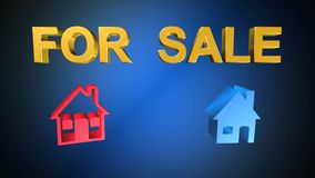 Home,for sale,animation stock illustration