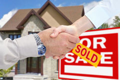 Home for sale. Consent Royalty Free Stock Photos