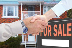 Home for sale. Consent Stock Photo
