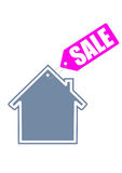 Home sale icon. House sale icon drawing on a white background Royalty Free Stock Photography