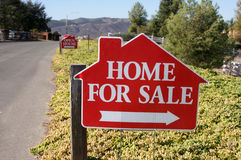 Home For Sale Sign Stock Photography