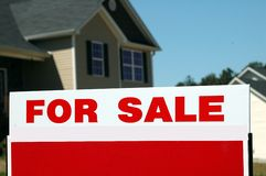 Home for sale sign Royalty Free Stock Photography