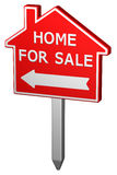 Home for sale sign. 3D rendering. Stock Images