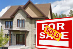 Home for sale. Sign Stock Image