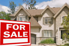 Home for sale. Sign Royalty Free Stock Photography
