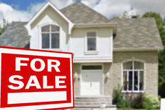 Home for sale. Sign Royalty Free Stock Images