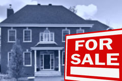 Home for sale. Sign Royalty Free Stock Photo