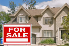 Home for sale. Sign Royalty Free Stock Photos