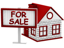 Home for Sale sign Royalty Free Stock Image