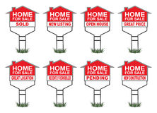 Home For Sale Signs With Riders Royalty Free Stock Photos