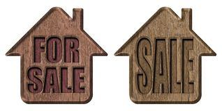 Home for sale. Wooden sign Stock Image