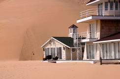 Home in the sand dunes Royalty Free Stock Image