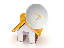 Home with satellite Stock Photography