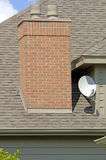 Home Satellite Dish. Luxury home satellite dish (12MP camera Royalty Free Stock Photography