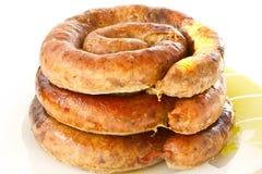 Home sausage Royalty Free Stock Image