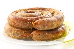 Home sausage Stock Image