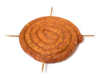 Home sausage isolated on white background Stock Photo