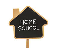 Home school. Blackboard isolated on white Royalty Free Stock Photo