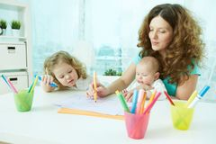 Home schooling Stock Photography