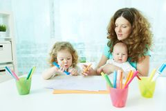 Home schooling Stock Images