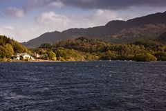 Home by a scottish loch Royalty Free Stock Image