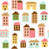 Home seamless pattern Stock Photography
