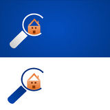 Home search. Background that recalls the concept of real estate or home search Royalty Free Stock Image