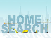 Home Search Shows Gathering Data And Building Royalty Free Stock Images
