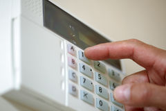 Home security alarm stock photo