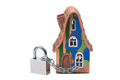 Home security. Home security concept isolated on white Royalty Free Stock Images