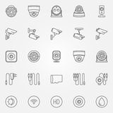 Home security cameras icons Stock Image