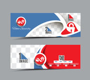 Home Security Center Banner Royalty Free Stock Photography
