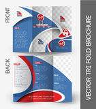 Home Security Center Tri-Fold Brochure Royalty Free Stock Image