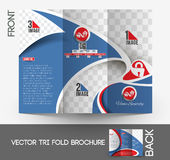Home Security Center Tri-Fold Brochure Stock Image