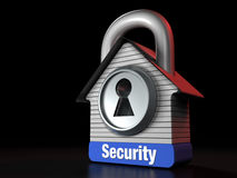 Home Security Concept House Lock Royalty Free Stock Photo