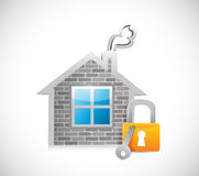 Home security concept illustration design Royalty Free Stock Photography