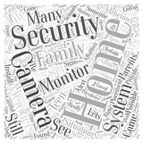 Home Security Concerns and Solutions word cloud concept word cloud concept  background Stock Image
