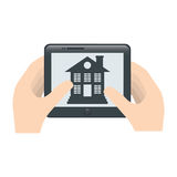 Home security icon image. Home security remote control icon image vector illustration design Royalty Free Stock Photography