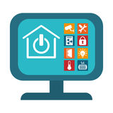 Home security icon image. Home security remote control icon image vector illustration design Stock Image