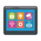 Home security icon image. Home security remote control icon image vector illustration design Royalty Free Stock Image