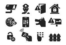 Home security icon set 03 Stock Images