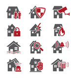 Home security icons. Isolated on white background,vector EPS 10 illustration Stock Photo