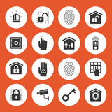 Home security icons Royalty Free Stock Photos