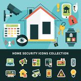 Home Security Icons Collection Stock Photography