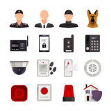 Home Security Icons Stock Photo