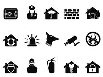 Home security icons set Royalty Free Stock Images