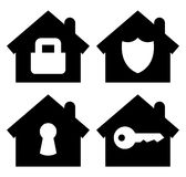 Home security icons set Royalty Free Stock Image