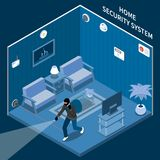 Home Security Isometric Composition vector illustration
