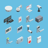 Home security Isometric Icons Set Royalty Free Stock Photos